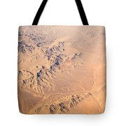 Nevada Mountains Aerial View Tote Bag