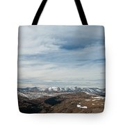 Never Summer Mountains From Rock Cut In Moraine Park Rocky Mountain National Park Tote Bag