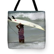 Never Too Little Never Too Big To Surf Tote Bag