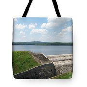 Neversink Reservoir Dam Tote Bag