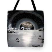 New Age Moonset Tote Bag