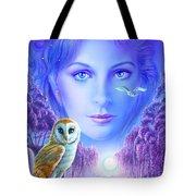 New Age Owl Girl Tote Bag