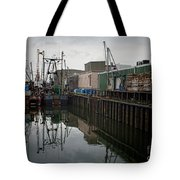 New Bedford Waterfront No. 4 Tote Bag by David Gordon
