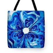 New Blue Glory Flower Art - Buy Prints Tote Bag