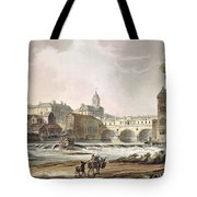 New Bridge, From Bath Illustrated Tote Bag