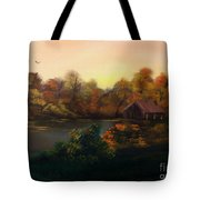 New Day In Autumn Sold Tote Bag by Cynthia Adams