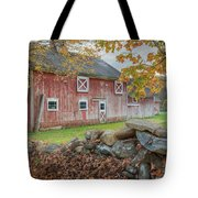 New England Barn Tote Bag by Bill Wakeley