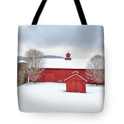 New England Barns Square Tote Bag