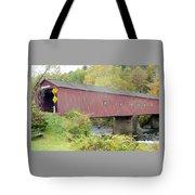 New England Covered Bridge Tote Bag