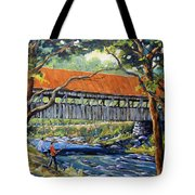 New England Covered Bridge By Prankearts Tote Bag by Richard T Pranke