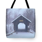 New England Covered Bridge In Winter Tote Bag