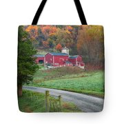 New England Farm Square Tote Bag