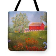 New England Red Barn Summer Tote Bag