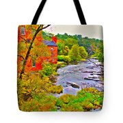 New England Stream In Fall Tote Bag