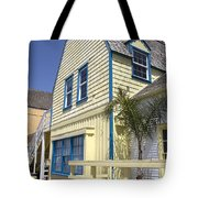 New England Style Building At Fisherman's Village Marina Del Rey Los Angeles Tote Bag