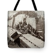 New England Train Wreck Tote Bag