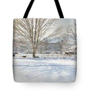New England Winter Tote Bag