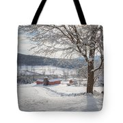 New England Winter Farms Morning Tote Bag
