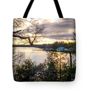 New England Winter Sunset Tote Bag