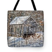 New England Winter Woods Tote Bag