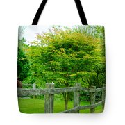 New England Wooden Fence Tote Bag