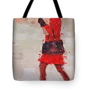 New Fur Hat Tote Bag by Laura Lee Zanghetti