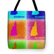 New Hampshire Pop Art Map 2 Tote Bag