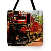 New Hope Ivyland Railroad With Cars Tote Bag