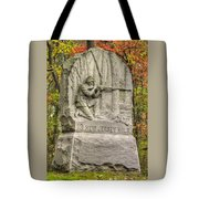 New Jersey At Gettysburg - 13th Nj Volunteer Infantry Near Culps Hill Autumn Tote Bag by Michael Mazaika