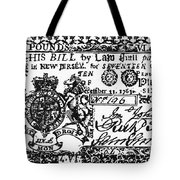 New Jersey Banknote, 1763 Tote Bag