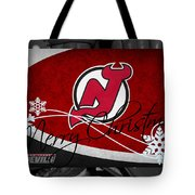 New Jersey Devils Christmas Tote Bag