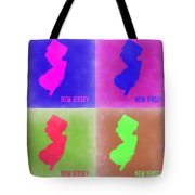 New Jersey Pop Art Map 2 Tote Bag