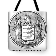 New Jersey State Seal Tote Bag