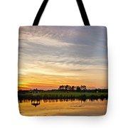 New Jersey Sunset Panoramic Tote Bag