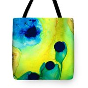 New Life - Green And Blue Art By Sharon Cummings Tote Bag by Sharon Cummings