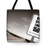 New Limits Sepia Tote Bag