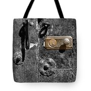 New Lock On Old Door 1 Tote Bag