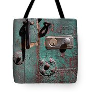 New Lock On Old Door 3 Tote Bag