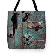 New Lock On Old Door 3 Tote Bag