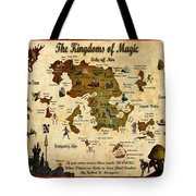 New Map Of The Kingdoms Of Magic Tote Bag
