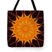 New Media Art Marigold On Mocha Kaleidoscope  Tote Bag