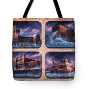 New Mexico Churches In Snow Tote Bag