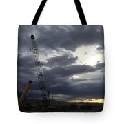 New Mexico Cloudy Sunrise Tote Bag