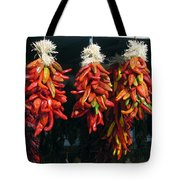 New Mexico Red Chili Peppers Tote Bag