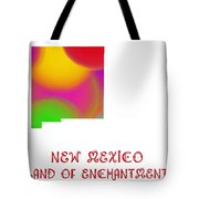 New Mexico State Map Collection 2 Tote Bag