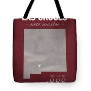 New Mexico State University Las Cruces Aggies College Town State Map Poster Series No 075 Tote Bag
