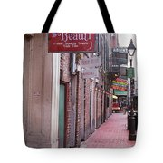 New Orleans - Bourbon Street 3 Tote Bag by Frank Romeo