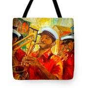 New Orleans Brass Band Tote Bag