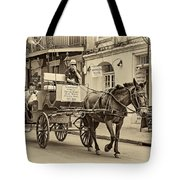New Orleans - Carriage Ride Sepia Tote Bag