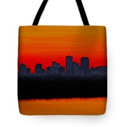 New Orleans City Sunset Tote Bag